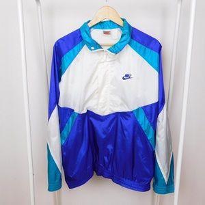 Vintage 90's Nike Blue & White Windbreaker
